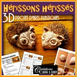 Hérissons Hérissés - projet d'arts plastiques