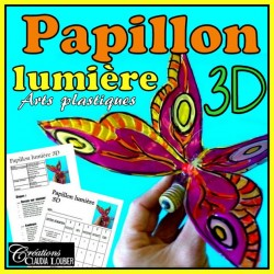 Printemps: Papillon lumière, arts 3D