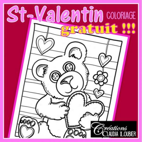 Gratuit coloriage St-Valentin