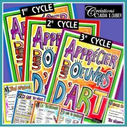 Apprécier les oeuvres d'art: 1er, 2e et 3e cycle