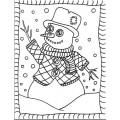 Coloriage d'hiver: Révision langage plastique