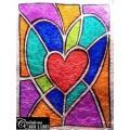 St-Valentin : De tout mon coeur , vitrail