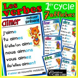 Verbes 1er cycle - 7 affiches