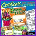Certificats d'anniversaire: souligner les fêtes