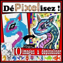 Dépixelisez ! Pixel Art - Arts plastiques