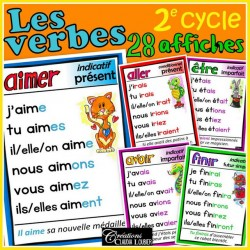 Verbes 2e cycle - 28 affiches