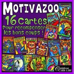 Collection de cartes récompenses : MotivaZoo