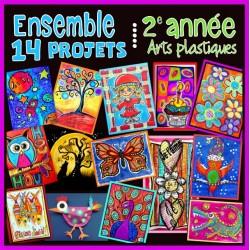 Ensemble 14 projets - Arts plastiques - 2e année