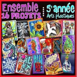 Ensemble 16 projets - Arts plastiques - 5e année