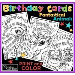Birthday Cards - Fantastical Animals