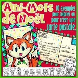 Ani-Mots de Noël - Carte postale