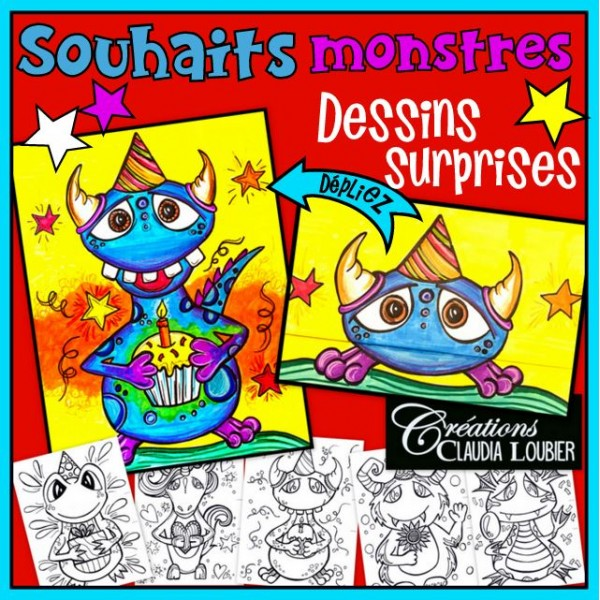 Souhaits monstres ! Dessins surprises - Arts