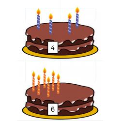 Jeu des gâteaux d'anniversaire
