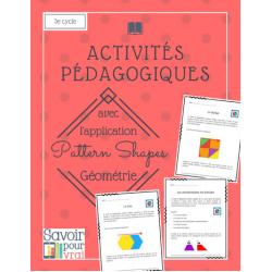 Activités géométrie app Pattern Shapes - 3e cycle
