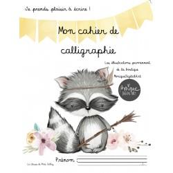 Cahier calligraphie cursive