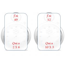 """""""J'ai...qui a"""" tables de multiplication"""