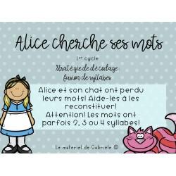 DÉCODAGE: Alice cherche ses mots