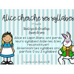 DÉCODAGE: Alice cherche ses syllabes