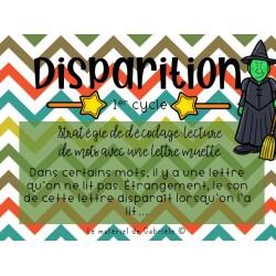 DÉCODAGE: Disparition