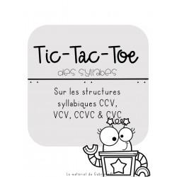 RÉÉDUCATION: Tic-Tac-Toe des syllabes