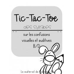 RÉÉDUCATION Tic-Tac-Toe des syllabes (B/D)