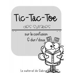 RÉÉDUCATION: Tic-Tac-Toe des syllabes (G dur/doux)