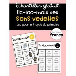 Tic-tac-mots - Sons vedettes (Échantillon gratuit)