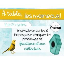 À table, les moineaux - Problèmes de fractions