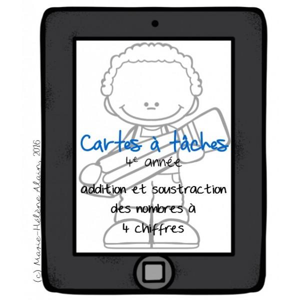 Cartes à tâches - addition et soustraction