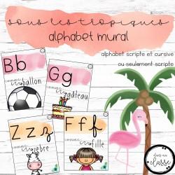 Alphabet mural - sous les tropiques