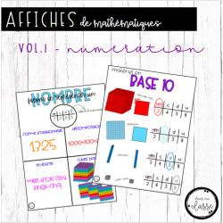 Affiches de mathématiques - vol.1 - numération