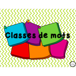 Classes de mots - affiche