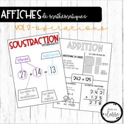 Affiches de mathématiques - vol.2 - opérations