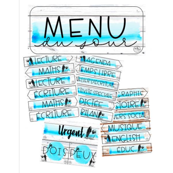 Beach house - menu du jour
