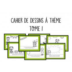Cahier de dessins à thème