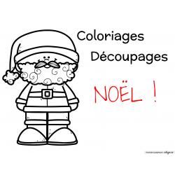 Coloriages et découpages de Noël