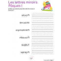 Mots miroirs - Pâques