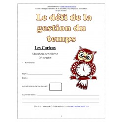 CD1 Maths 3e - (2) Le défi de la gestion du temps