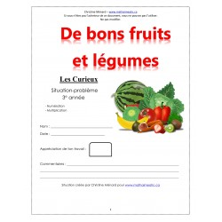 CD1 Maths 3e - (4) De bons fruits et légumes