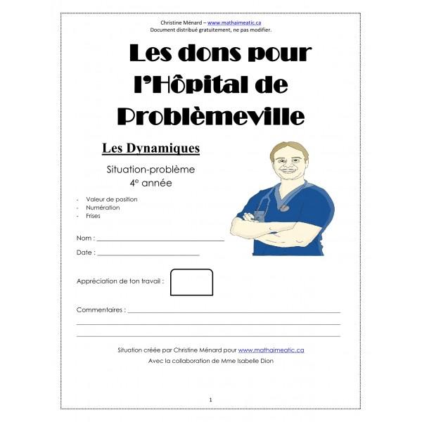 CD1 Maths 4e - (1) Les dons pour l'hôpital