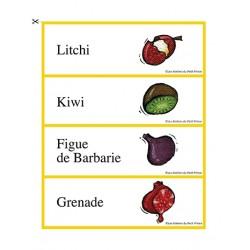 Mots-étiquettes de fruits