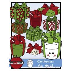 Cliparts - Cadeaux de Noël