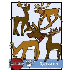 Cliparts - Rennes de Noël