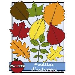 Cliparts - Feuilles d'automne
