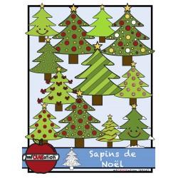 Cliparts - Sapins de Noël