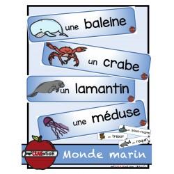 Monde marin - Mots-étiquettes