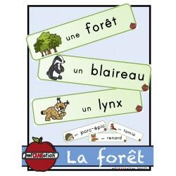 Forêt - Mots étiquettes