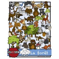Clip arts - La forêt