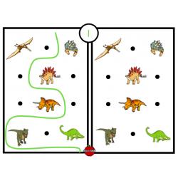 Fiches - Je reproduis le tracé (dinosaures)