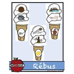 Rébus - crème glacée